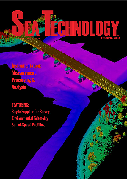 Cover for the February 2020 edition of Sea Techology