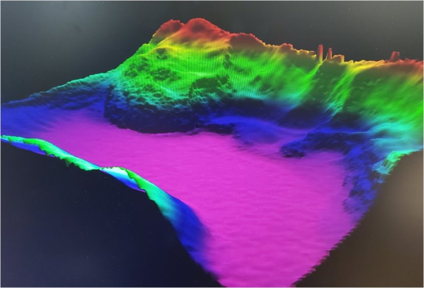 3D Map of Calypso Deep - Section