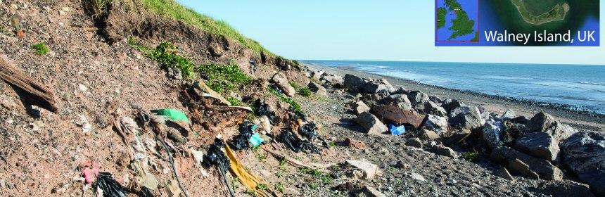 plastic waste on coast