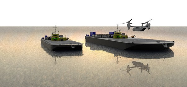autonomous Forward Arming and Refueling Point (FARP) units for an Amphibious Maritime Projection Platform (AMPP)
