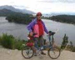 Peter Marsh enjoying the view of one of Argentina's Andean lakes in 2011.