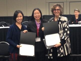 2013 Hsu Book Prize recipients Junko Kitanaka & Judith Farquhar with Vanessa Fong