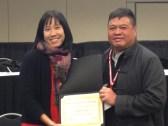 2013 Plath Media Prize recipient Jenny Chio with Fuji Lozada