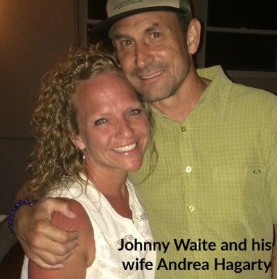 Johnny Waite and his wife Andrea Hagarty