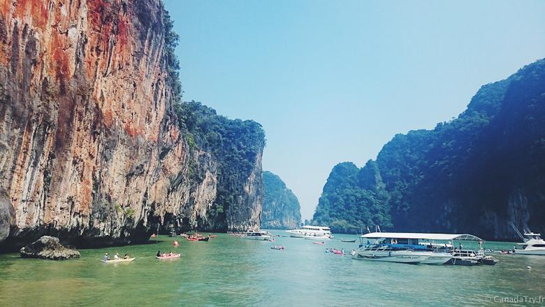 excursion baie phang nga thailande