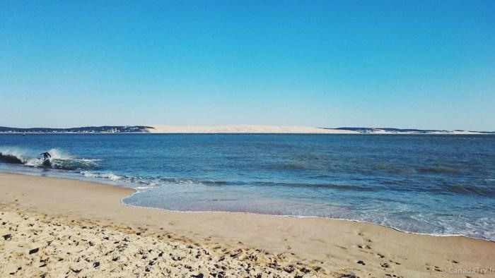vue sur la dune de pyla au cap ferret
