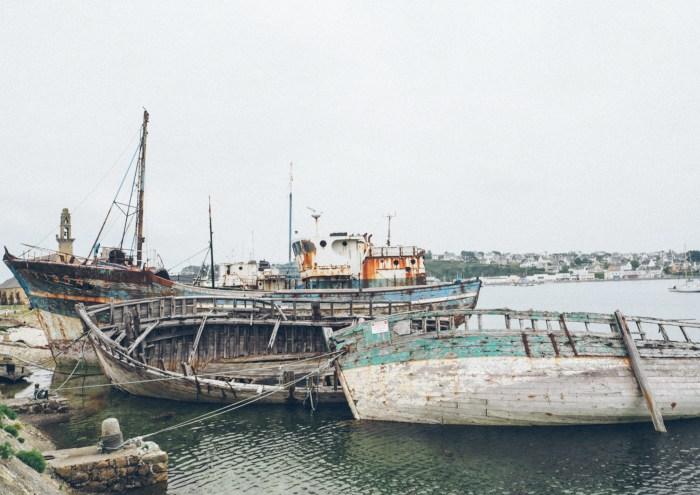 epaves de bateaux à Camaret, Finistère