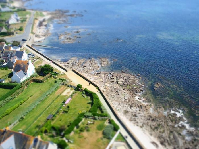 Effet miniature paysage de Bretagne
