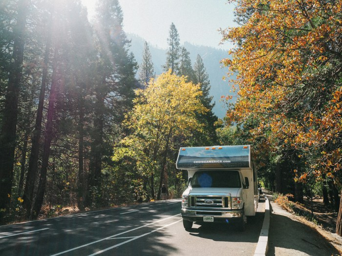 road-trip en camping car à Yosemite
