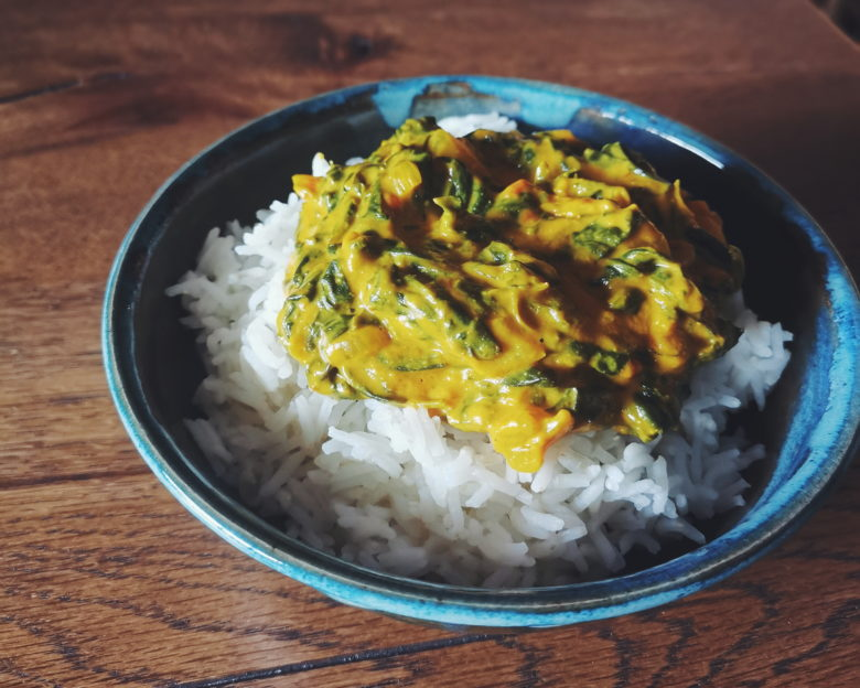 Curry d'épinards recette