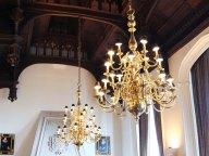 mock-tudor chandeliers