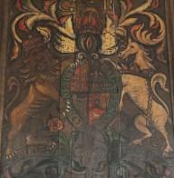 crest in oare church