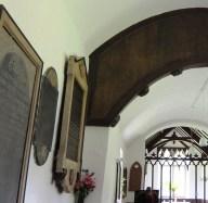 barrel roof in oare church