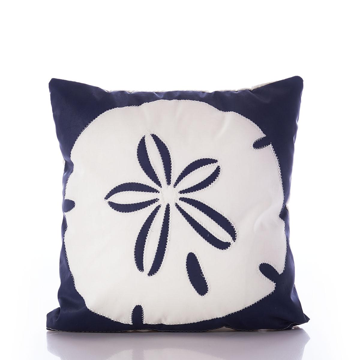 https seabags com white on navy sand dollar pillow s003990 html