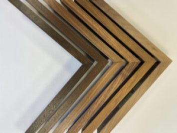Finished corner picture frame profiles made at our Chicago studio. Artmill Group 840 N. Milwaukee Ave, Chicago, IL Seaberg Framing, Armand Lee, Artifact Services, Prints Unlimited Gallery, Princeton Framing and Gallery, The Frame Forum, Corporate Artworks Chicago Austin
