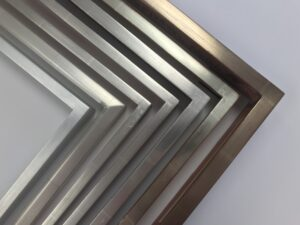 White Gold, 12k Gold Finished corner picture frame profiles made at our Chicago studio. Artmill Group 840 N. Milwaukee Ave, Chicago, IL Seaberg Framing, Armand Lee, Artifact Services, Prints Unlimited Gallery, Princeton Framing and Gallery, The Frame Forum, Corporate Artworks