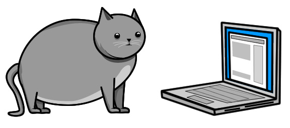 Cartoon: cat versus internet
