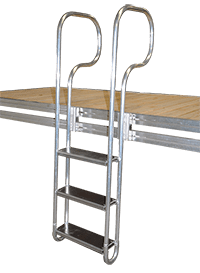 3 step aluminum swim ladder