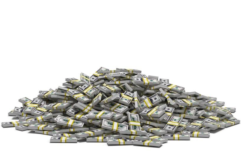 dollar bills stacked