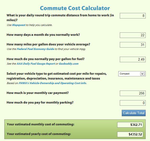 commute calculator