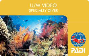 アンダーウォーター・ビデオグラファー(水中ビデオ)・スペシャルティ・コース