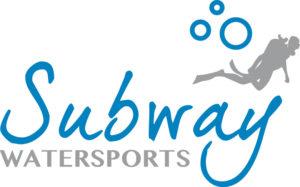 Subway Watersports logo in blue