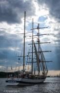 Polish Barquentine, Porgoria. Parade of Sail. Antwerp Tall Ships Race 2010