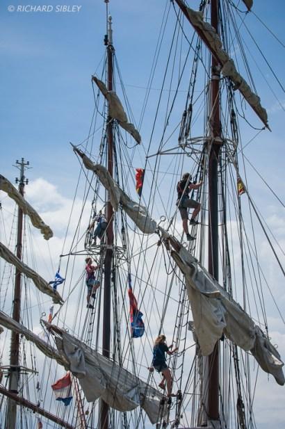 Dutch Clipper Brig Morgenster. Antwerp Tall Ships Race 2010