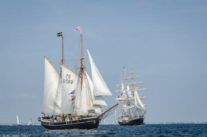Swedish Gaff Schooner Constantia and British Barque Tenacious