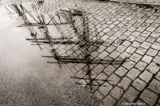 Reflections on the quay, Bergen