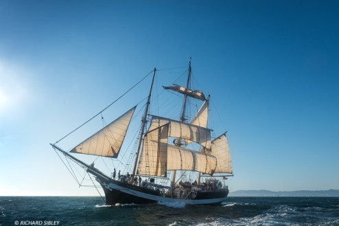 Mainmast barquentine, Pelican of London. Great Britain