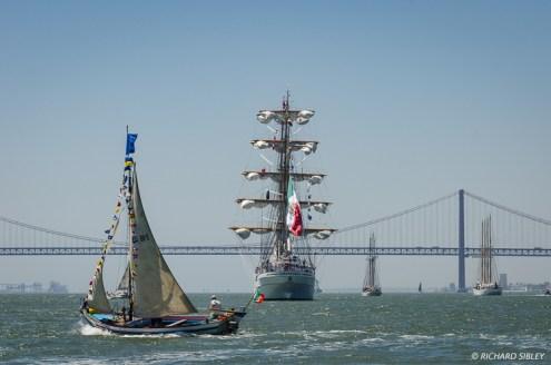 Mexican barque Cuauhtémoc, Schooner Leao Holandes and Schooner Creoula