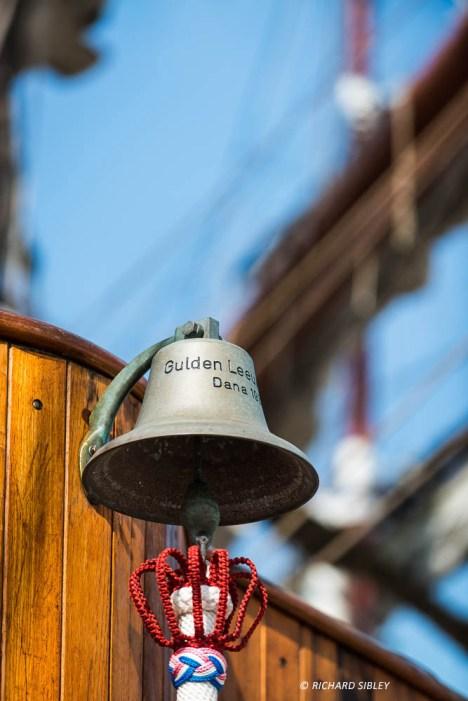 Onboard the Dutch Schooner Gulden Leeuw. Parade of Sail, Royal Greenwich 2014