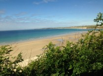 coming into St Ives by train