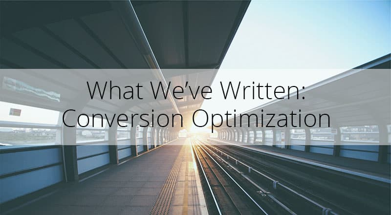 Blogs on Conversion Optimization