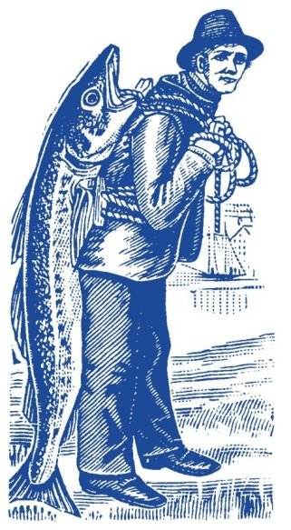 Fish Monger Blue