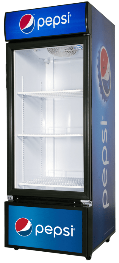 The S300, S400, and S500 Glass Door Merchandiser by Seaga offer proven innovative technology to ensure the best refrigeration and high visibility.