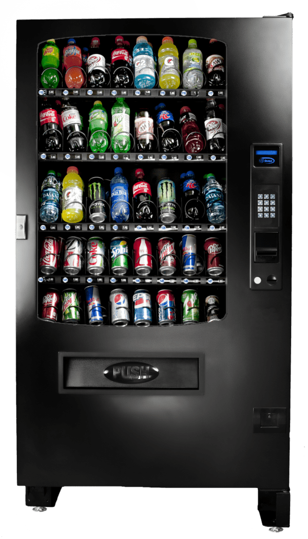 A valuable addition to our glass front vending family the INF5B is great for any location. Health & safety compliant the INF5B is also MDB and DEX capable.