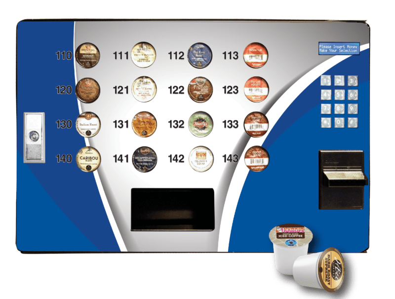 Seaga's Single Serve Coffee Station or SS16, is the most convenient machine in an office serving some popular brands including Keurig.
