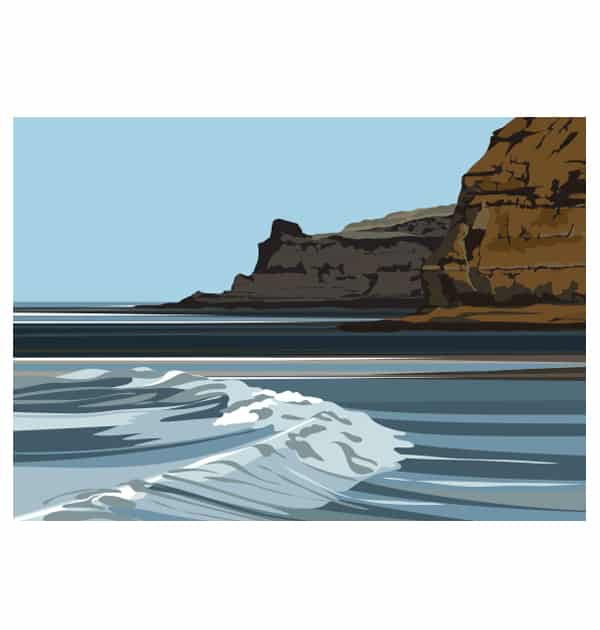 Penny Nab from Staithes Breakwater - Summer - Landscape