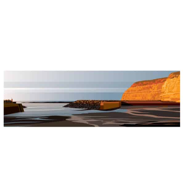 Evening at Staithes - Panoramic