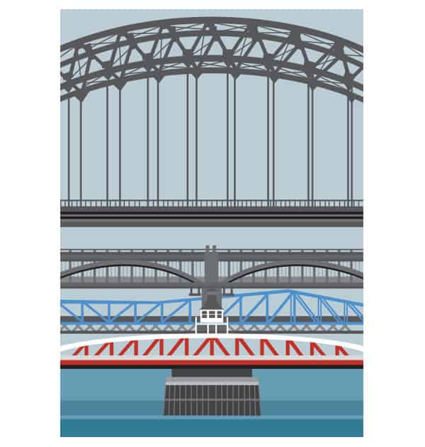Bridges over the Tyne - Portrait