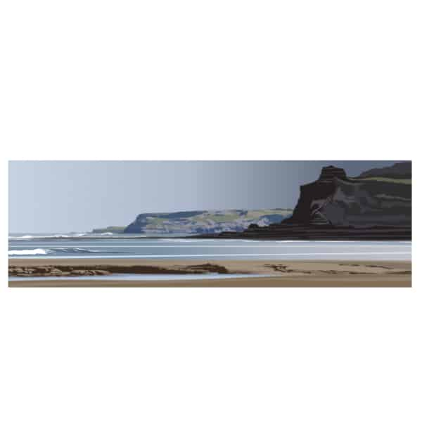 Jet Wyke to Old Nab, Staithes - Panoramic