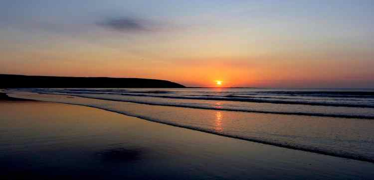 Filey Bay Sunrise 15 - Large Landscape