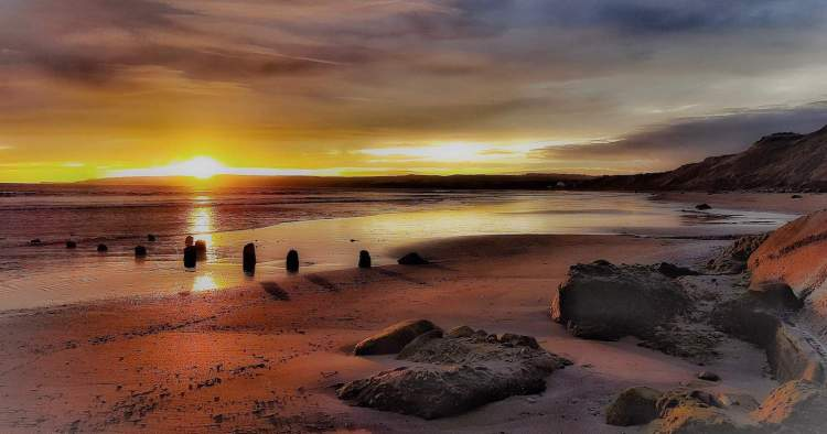 Filey Bay, Muston Sands Sunrise - Large Landscape