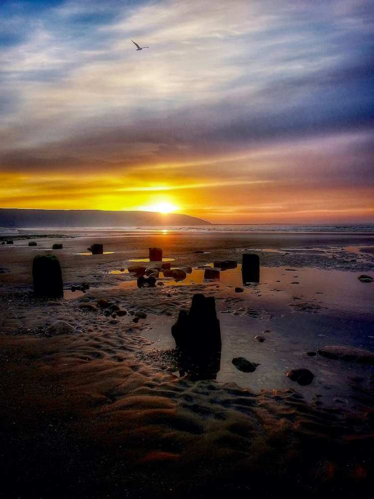 Filey Beach Sunrise 32 - Portrait