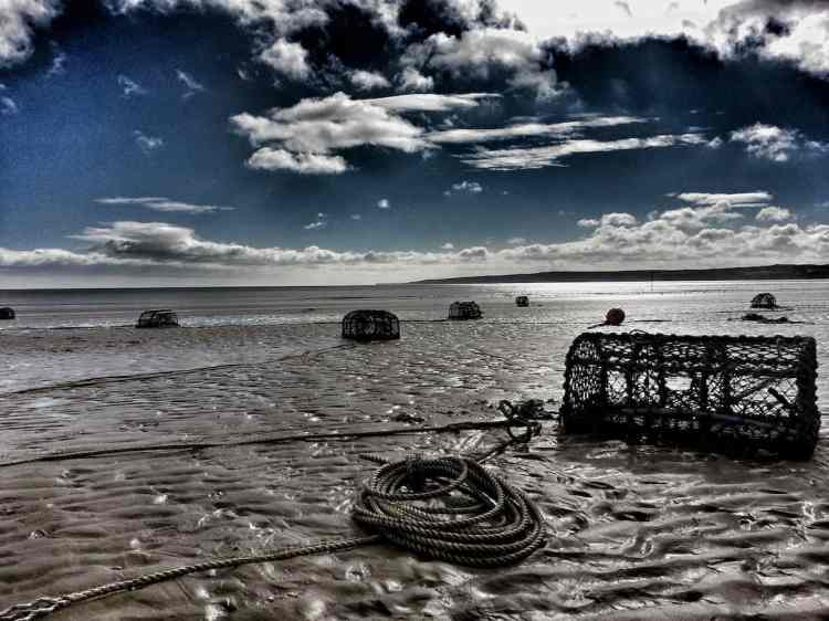 Filey Beach - Chris' Pots - Landscape