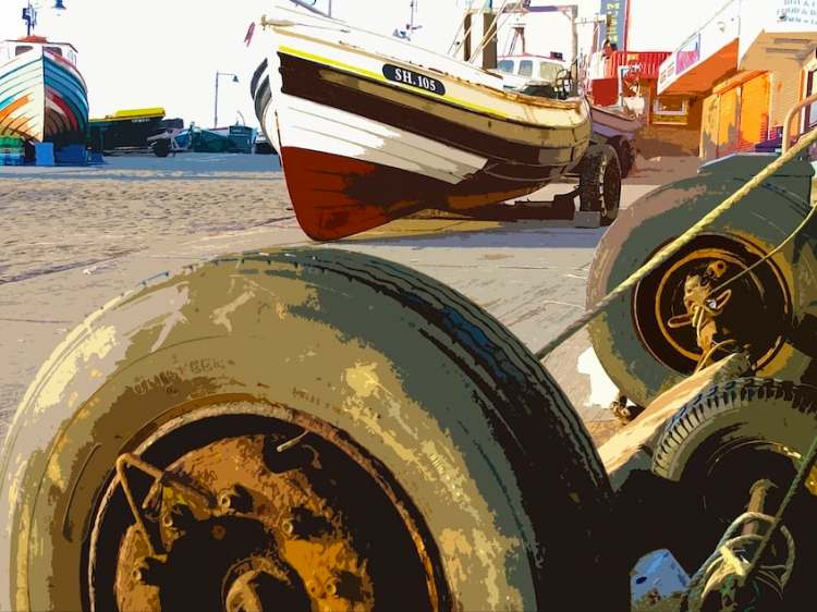 Filey Coble Landing, Rustic Past - Landscape