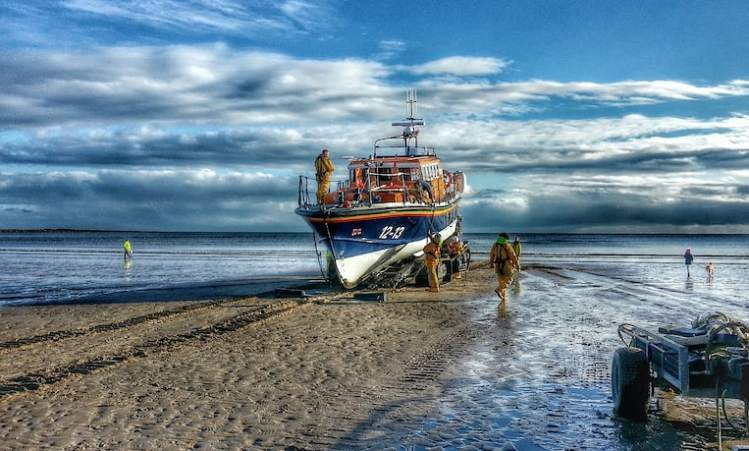 Beach Recovery, Filey Lifeboat - Landscape