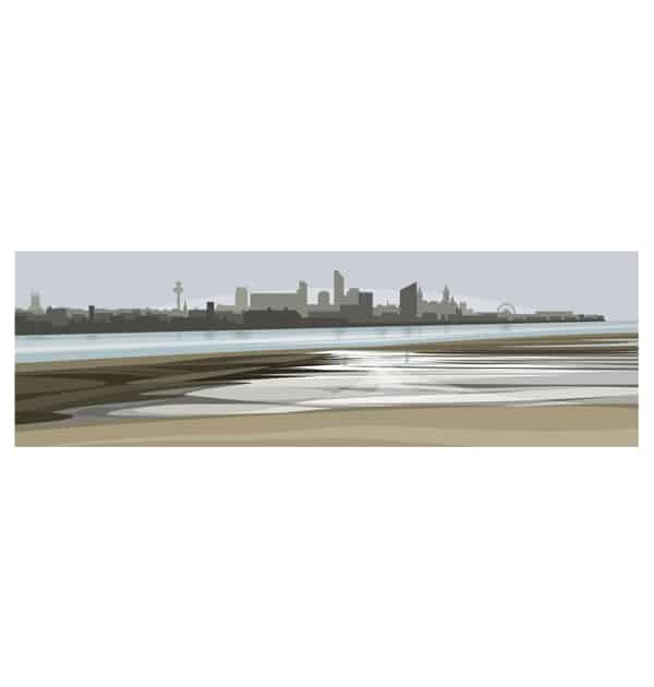 Liverpool From Wirral - Panoramic